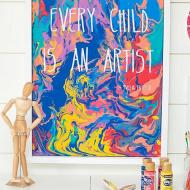 """Every Child"" Paint Pouring"