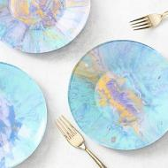 Marbleized Appetizer Plates