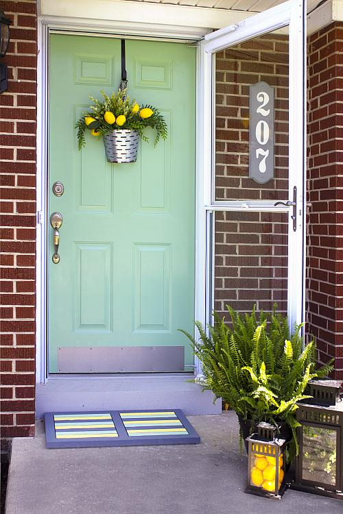 Bon Mint Green Front Door   Project By DecoArt