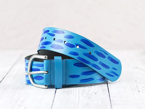 Blue Brushstroke Belt