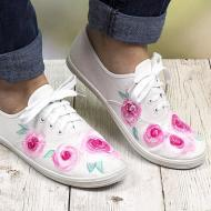 Watercolor Rose Shoes
