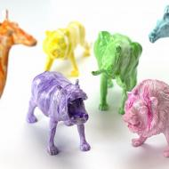 Dollar Store Rainbow Animals