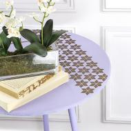 Quilt Star Accent Table