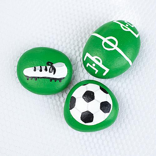 World Cup Soccer Painted Rocks
