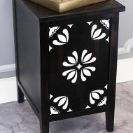 Floral Accent End Table
