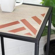 Simple Striped Side Table