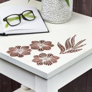 Modern Floral Side Table