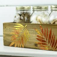 Metallic Textured Leaf Box