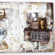 Vintage Collaged Journal Spread