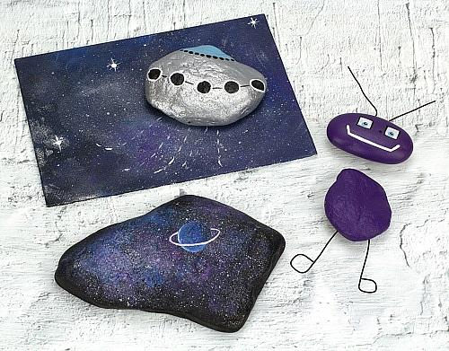 Out-of-This-World Painted Rocks