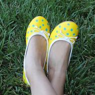 Polka Dotted Flats