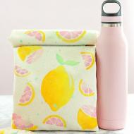 Stenciled Canvas Lunch Bag