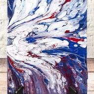 Patriotic Poured Canvas