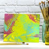 Bright Pour Accent Canvas