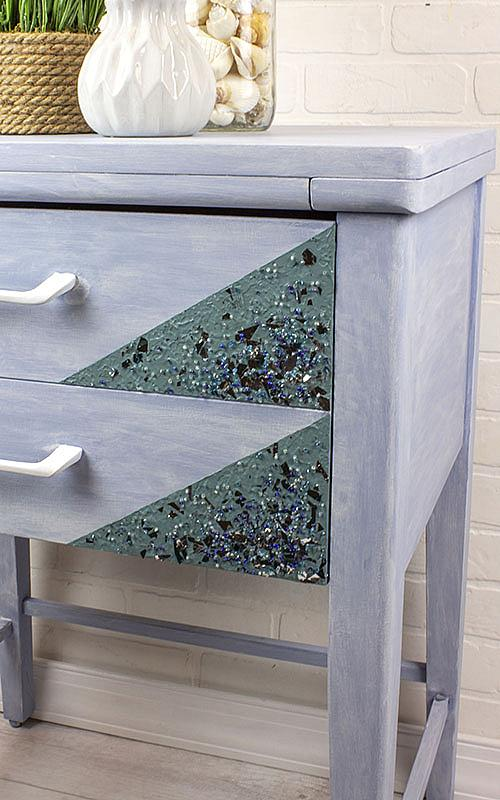 Mermaid-Inspired Textured Side Table
