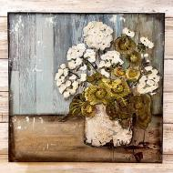 Mixed Media Farmhouse Flowers