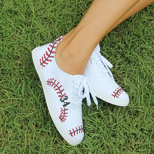 Hand-Painted Baseball Sneakers