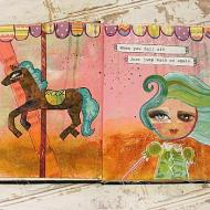 Jump Back On Art Journal Spread