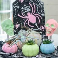 Dollar Store Pastel Halloween Decor