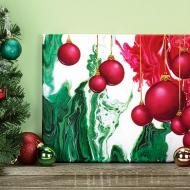 Christmas Poured Canvas