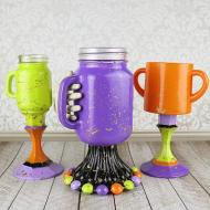 Colorful Halloween Goblets