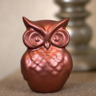 Fall Owl in Warm Copper