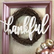Thankful Fall Framed Wreath