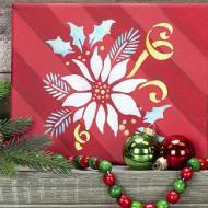 Shimmery Holiday Poinsettia