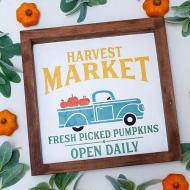 Harvest Market Sign