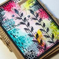 Mixed Media Floral Concertina