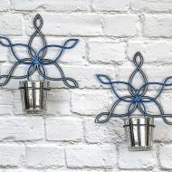 Winter Candle Sconces
