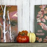 Fall Poured Canvases