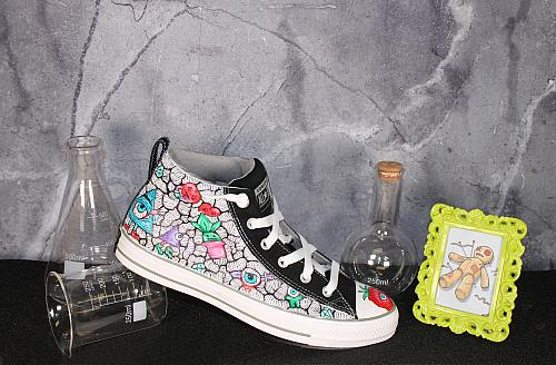 Monster Graffiti Shoes with Line Work