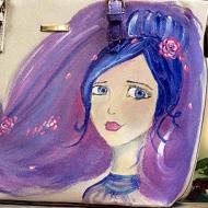 Girl in Blue Purse
