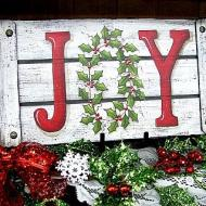 JOY Shabby Chic Plaque