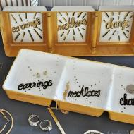 DIY Reverse Painted Jewelry Tray