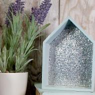 Glittered Decorative Houses