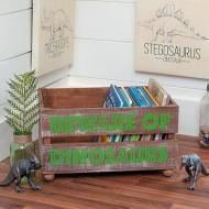 Simple Dinosaur Room Crate Makeover