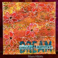 Summer Dream Mixed Media Canvas