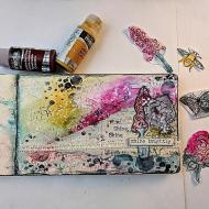 Shine: Art Journal Page