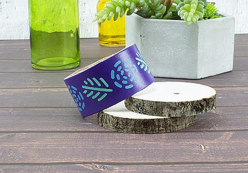 Stylish Stenciled Wristband