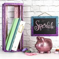 Glittery Piggy Bank Set