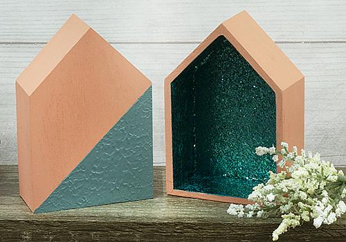 Textured House with Pop of Glitter