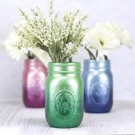 Metallic Ombre Mason Jars