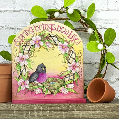 Spring Brings New Life Plaque