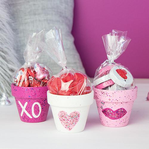 Valentine's Day Galaxy Glitter Candy Pots