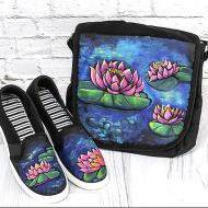 Waterlily Messenger Bag and Shoes