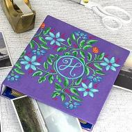 Stenciled and Monogramed Album