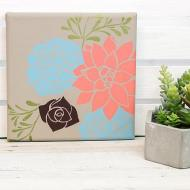 Pretty Succulents on Canvas