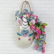 Metallic Unicorn Planter